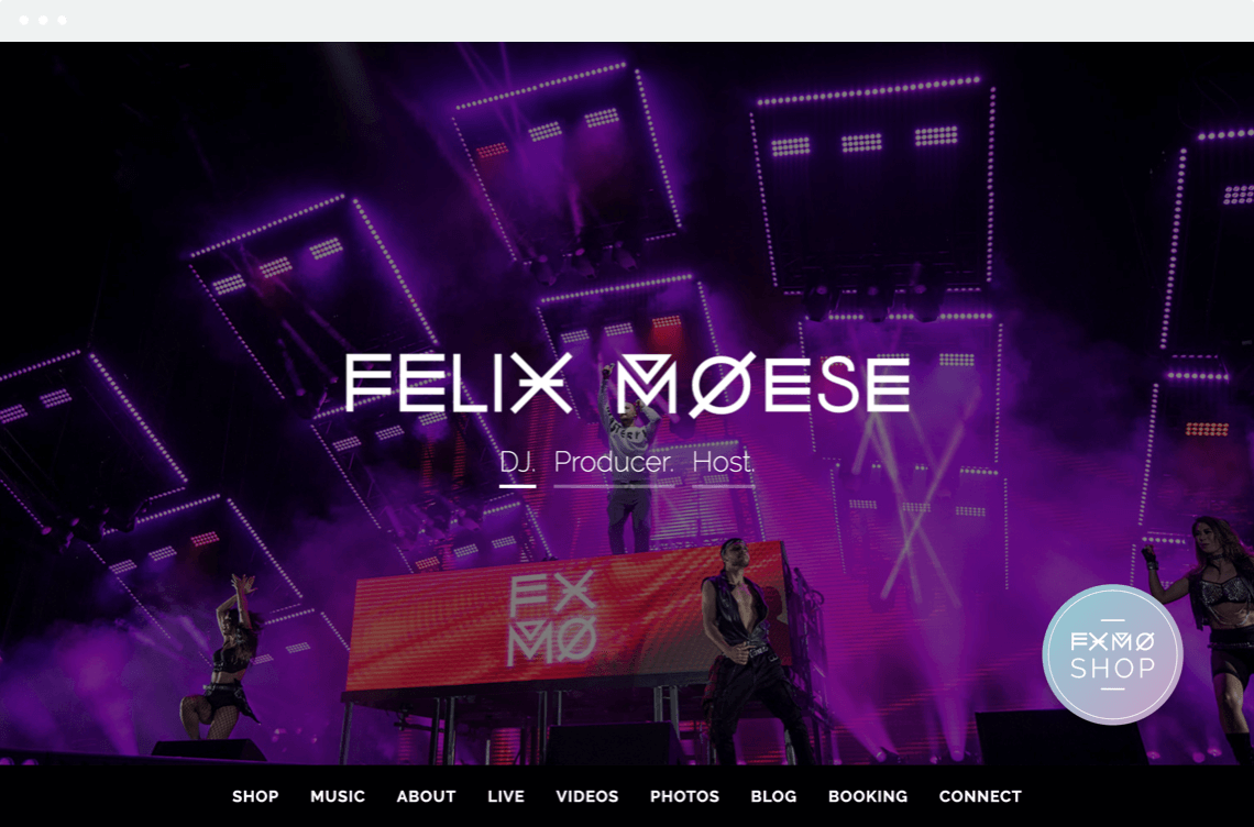 Webdesign Screenshot FXMO – Felix Moese